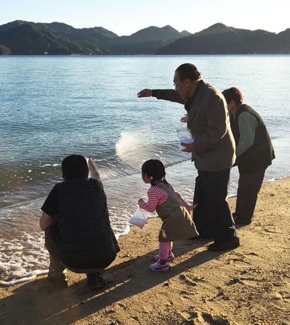 山本基・海に還るプロジェクト・尾道市向島・CCTV取材