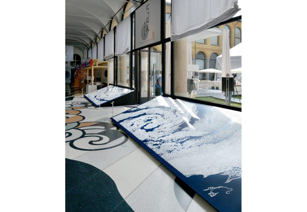 現代美術アーティスト・山本基が制作した店舗やミラノ万博・にっぽんサローネのディスプレイ。