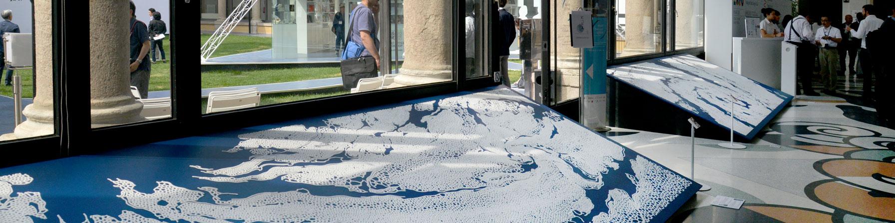 現代美術アーティスト・山本基が制作した銀座の店舗やミラノ万博・にっぽんサローネのディスプレイ。