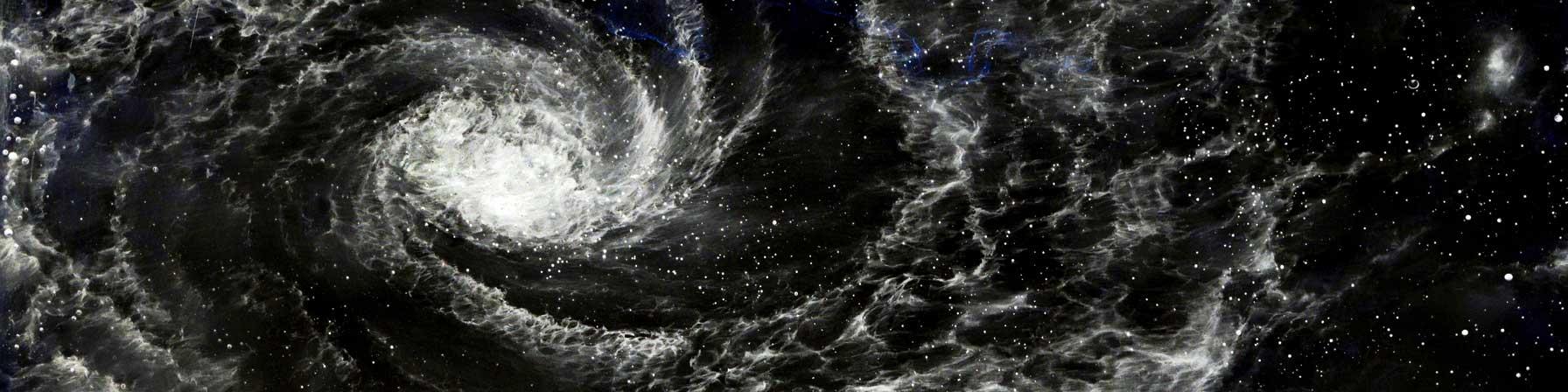 山本基の写真作品「たゆたう庭」鉛筆ドローイングの画像を反転させたジクレープリント作品。