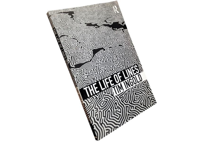THE LIFE OF LINES, Tim Ingold ベルビュー美術館で制作したインスタレーション作品「迷宮」を本の装丁に使用。