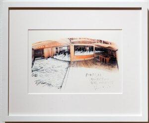 現代美術アーティスト山本基がドロイーングを出品。瀬戸内国際芸術祭2016の報告展「高見島―京都:日常の果て」。