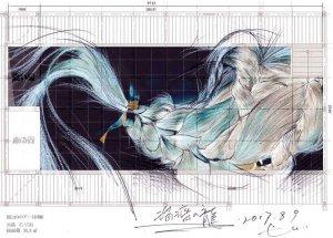 山本基の新作インスタレーション「瑠璃の龍」故郷の尾道・百島で滞在制作